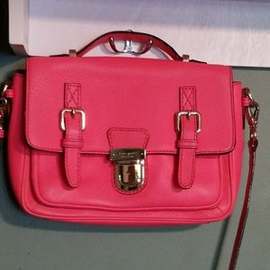 Kate Spade RARE Neon Coral Essex Scout Messenger